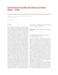 Caracterização da prática das Ciências no Ensino Básico – 1ºCiclo