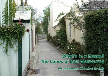 What's in a Name? The Lanes of East Melbourne