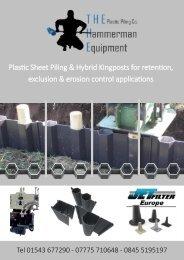 THE Plastic Piling Co Range of Plastic Sheet Piling