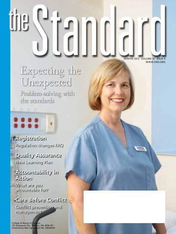 The Standard, Winter 2012 - College of Nurses of Ontario