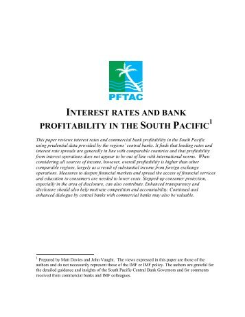 interest rates and bank profitability in the south pacific 1 ...