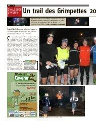 Un trail des Grimpettes 2013 aux condi - Challenge L'Avenir - Verviers