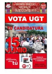 Campaña electoral Sniace 2011 - sección sindical de UGT de Sniace