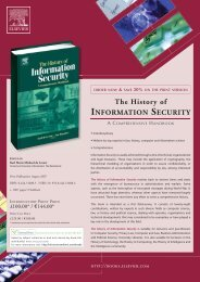 The History of INFORMATION SECURITY - Nisa