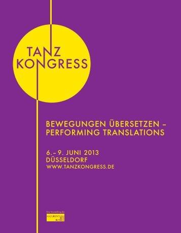Programmheft PDF - Tanzkongress 2013