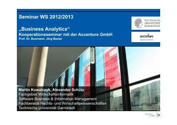 Business Analytics - Wirtschaftsinformatik - Technische Universität ...