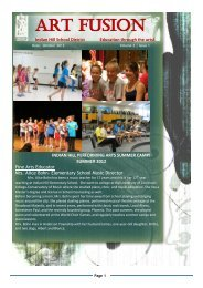 ART FUSION - Indian Hill School District