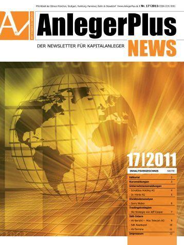 AnlegerPlus News 17/2011