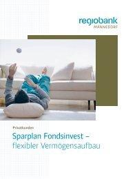 Sparplan Fondsinvest - Regiobank Männedorf