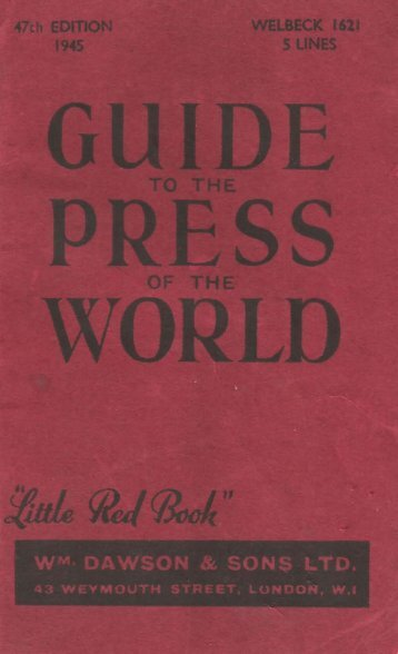 Little Red Book – Guide to the Press of - Workers Bush Telegraph