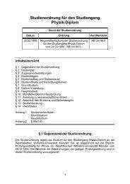 Studienordnung für den Studiengang Physik-Diplom - ZSB