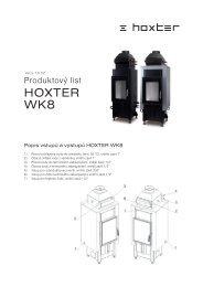HOXTER WK8 - Krbová kamna, krbové vložky, krby