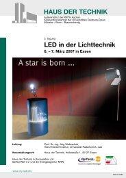 HAUS DER TECHNIK LED in der Lichttechnik