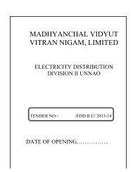 Tender document No 10 HAL line - MVVNL