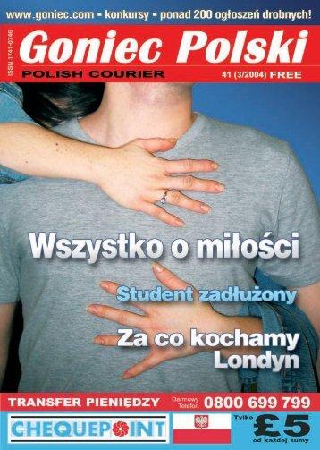 BEZP£ATNY, KOLOROWY, KOMPLETNY ... - Goniec Polski