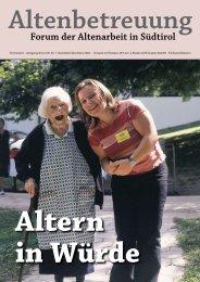 Altern in Würde - Verband der Seniorenwohnheime Südtirols