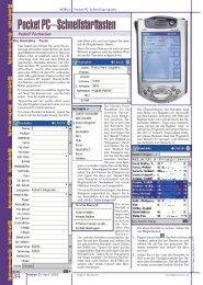 Pocket PC–Schnellstarttasten - PCNews