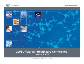2008 JPMorgan Healthcare Conference - Pall Corporation (PLL)