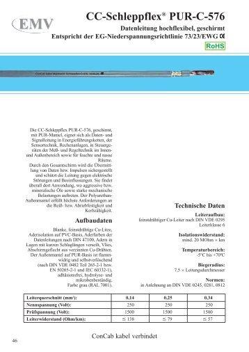CC-Schleppflex® PUR-C-576 - ConCab kabel gmbh