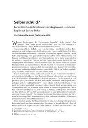 Selber schuld? - TU Berlin