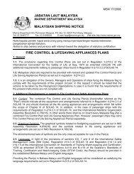fire control & lifesaving appliances plans - Jabatan Laut Malaysia