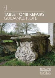 TABLE TOMB REPAIRS GUIDANCE NOTE