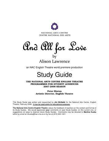 All for Love Summary - eNotes.com