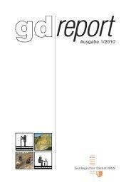gd-report 01_2010 - Geologischer Dienst NRW