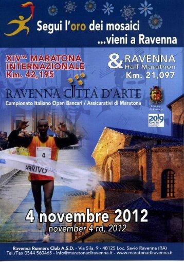 Locandina Maratona Ravenna 2012