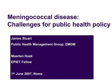 Challanges for Public Health Policy in Europe