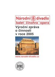 Výroční zpráva o činnosti Národního divadla v ... - Národní divadlo