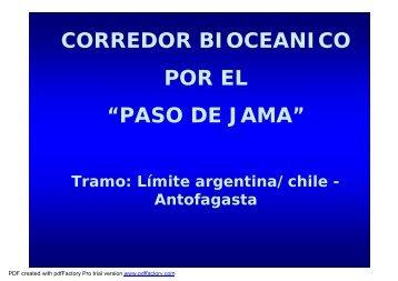 presentación de Corredor Bioceanico Jama