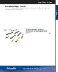 Venturi Vacuum Cartridges - Vaccon Vacuum Products