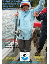 Dolphin Underwater & Adventure Club May 2011 Newsletter