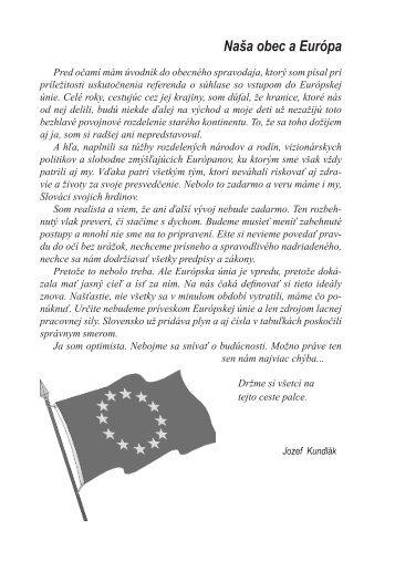 Naša obec a Európa - Obec Dunajská Lužná