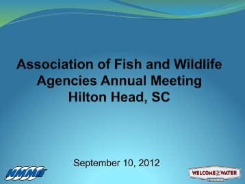 September 10, 2012 - Association of Fish and Wildlife Agencies