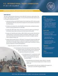 Operation 4 -- Tariff and Trade Information Services - USITC