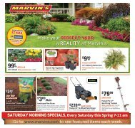 Saturday morning specials - Marvin's