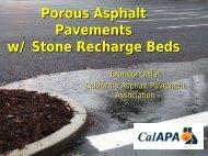 Porous Asphalt Pavements - California Coastal Commission - State ...