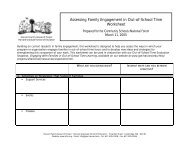 Workshop worksheet - Harvard Family Research Project