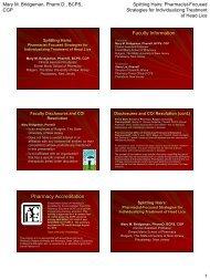 Pharmacologic Management of Anticoagulant ... - Pharmacy Times