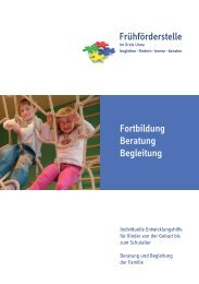 Aktuelles Fortbildungsprogramm - Frühförderstelle im Kreis Unna