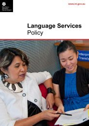Language Services Policy - Department of Regional Development ...
