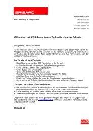 Willkommen bei, AVIA dem grössten Tankstellen-Netz der Schweiz