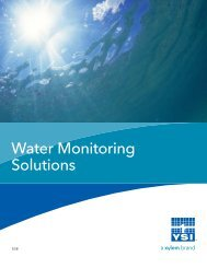 Complete Water Monitoring Solutions Catalog - YSI Systems
