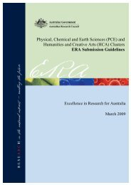Physical, Chemical and Earth Sciences - Australian Research Council