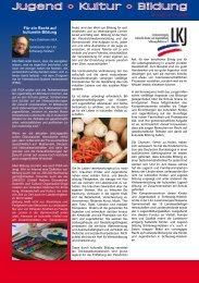 Ausgabe 1: Oktober 2009 - LKJ SH eV