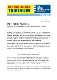KITZ `N FRIENDS TRIATHLON - ITU World Triathlon Kitzbuehel