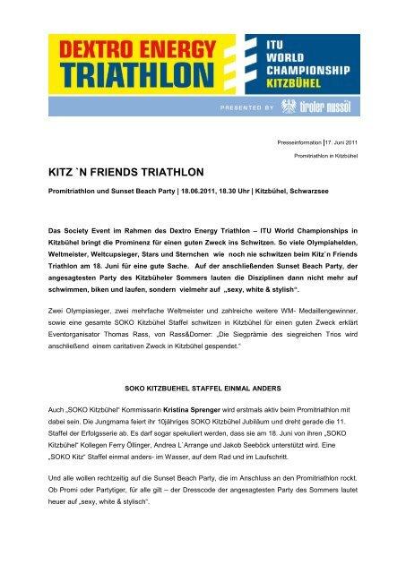 KITZ `N FRIENDS TRIATHLON - ITU World Triathlon Kitzbuehel