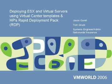 Deploying ESX and Virtual Servers using Virtual Center ... - VMware
